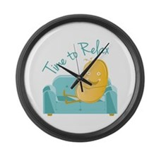 Time To Relax Large Wall Clock