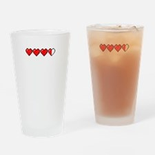 8-bit Life meter Drinking Glass