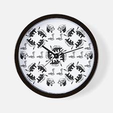 Honey Badger & Cobra Wall Clock