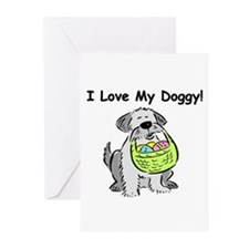 Happy Easter Dog Doggy Greeting Cards (Pk of 20)