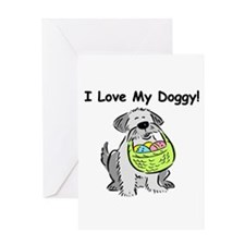 Happy Easter Dog Doggy Greeting Card