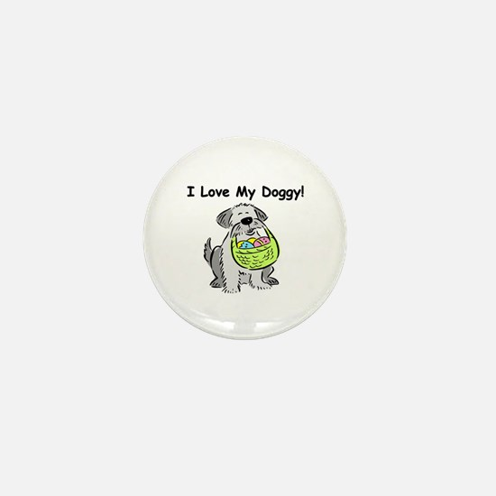 Happy Easter Dog Doggy Mini Button