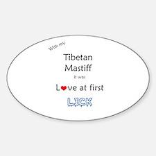 Tibetan Lick Oval Decal