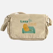 Lazy Lounging Messenger Bag