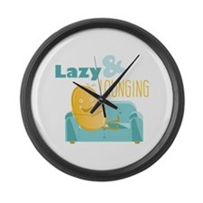 Lazy Lounging Large Wall Clock