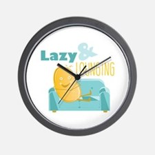 Lazy Lounging Wall Clock