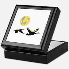Geese & Moon Keepsake Box
