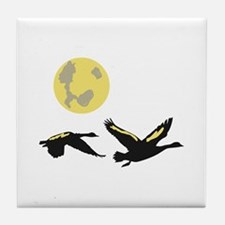 Geese & Moon Tile Coaster