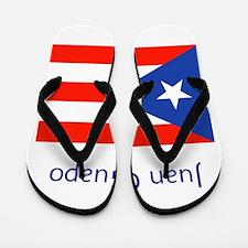 Juan Custom Puerto Rican Flag Boricua Flip Flops