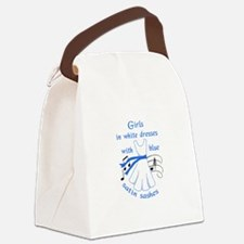 Girls In White Dresses Canvas Lunch Bag