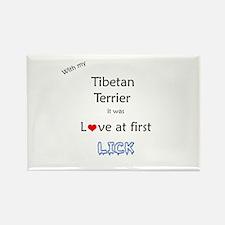 Tibetan Terrier Lick Rectangle Magnet