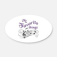 My Favorite Things Oval Car Magnet