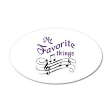 My Favorite Things Wall Decal