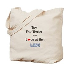 Toy Fox Lick Tote Bag