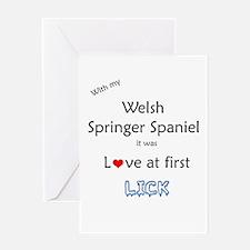 Welsh Springer Lick Greeting Card