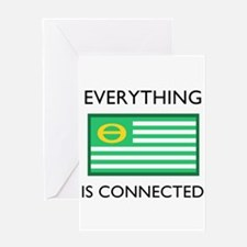 Everything Is Connected Greeting Cards