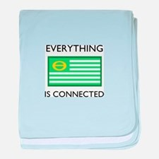 Everything Is Connected baby blanket