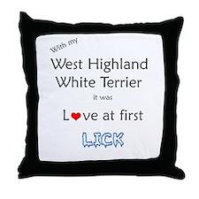 Westie Lick Throw Pillow