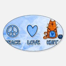 Cute Peace love knit Decal