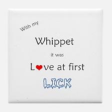 Whippet Lick Tile Coaster