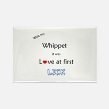Whippet Lick Rectangle Magnet
