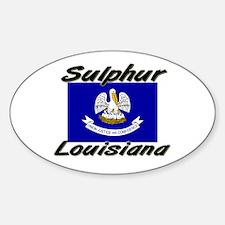 Sulphur Louisiana Oval Decal