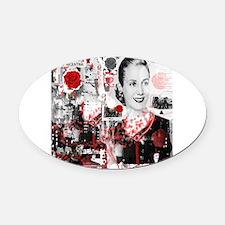 Cute Evita Oval Car Magnet