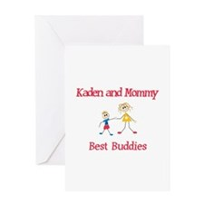 Kaden & Mommy - Buddies Greeting Card