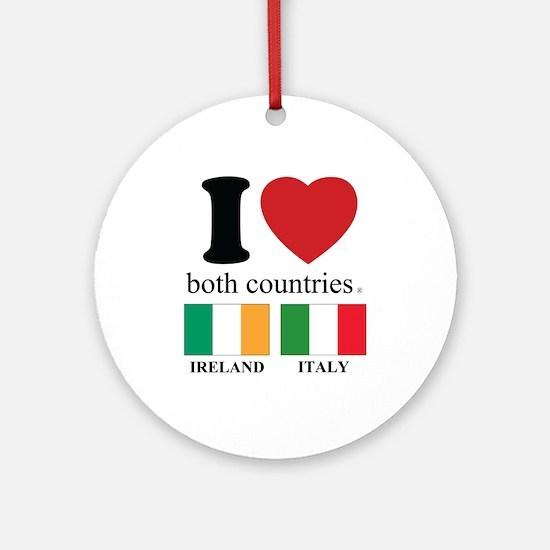 IRELAND-ITALY Round Ornament