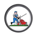 Lawnmower cartoon isolated Basic Clocks