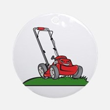 Lawnmower Front Isolated Cartoon Round Ornament
