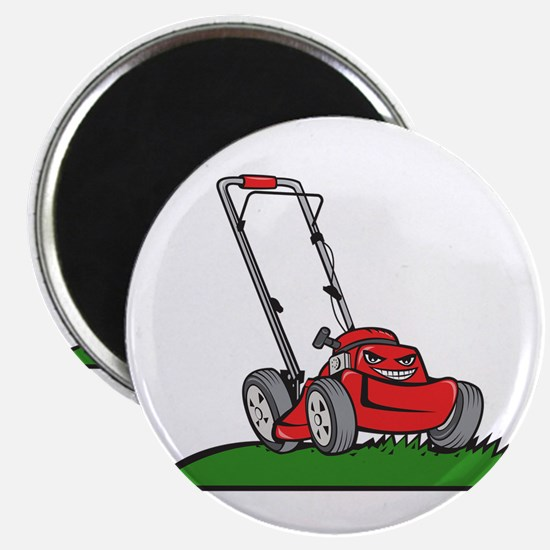 Lawnmower Front Isolated Cartoon Magnets
