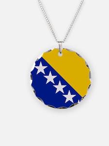 Flag of Bosnia Necklace