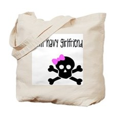 BAMF Navy Girlfriend Tote Bag