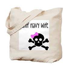 BAMF Navy Wife Tote Bag