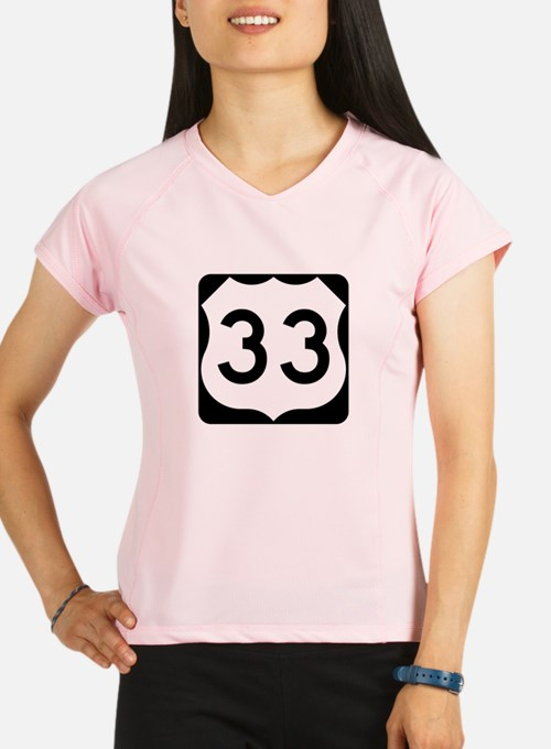 US Route 33 Performance Dry T-Shirt