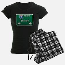 Seattle, WA Highway Sign Pajamas