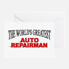 """The World's Greatest Auto Repairman"" Greeting Car"
