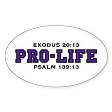 ProLife (PUR) - Oval Decal