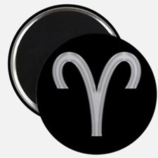 Silver Aries Symbol Magnets