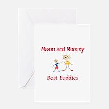Mason & Mommy - Buddies Greeting Card