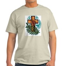 Easter Cross Ash Grey T-Shirt