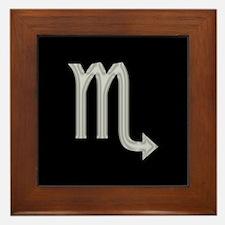 Silver Scorpio Symbol Framed Tile