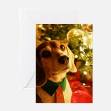 Unique Beagle christmas Greeting Cards (Pk of 20)