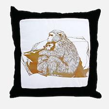 Macaque Throw Pillow
