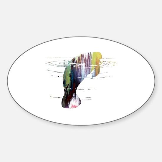 Unique Birds silhouette Sticker (Oval)