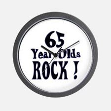 65 Year Olds Rock ! Wall Clock