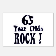 65 Year Olds Rock ! Postcards (Package of 8)
