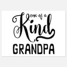 One of a kind Grandpa Invitations