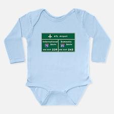 Cute Motorway Long Sleeve Infant Bodysuit